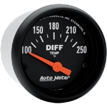 Auto Meter 2636 Z Series 100-250 °F Differential Temperature Gauge