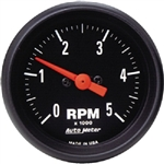 Auto Meter 2697 Z Series 5000 RPM Low Rev Tacometer Gauge