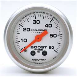 Auto Meter 4305 Ultra-Lite 60 PSI Boost Gauge