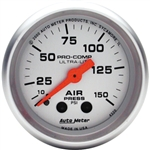 Auto Meter 4320 Ultra-Lite 0-150 PSI Air Pressure Gauge