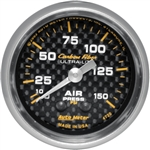 Auto Meter 4720 Carbon Fiber 0-150 PSI Air Pressure Gauge