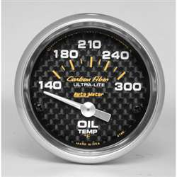 Auto Meter 4748 Carbon Fiber 140-300 °F Oil Temperature Gauge