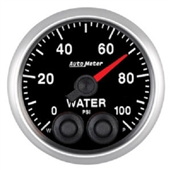 Auto Meter 5668 Elite Series 0-100 PSI Water Pressure Gauge