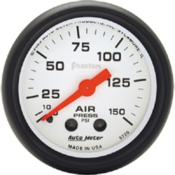 Auto Meter 5720 Phantom 0-150 PSI Air Pressure Gauge