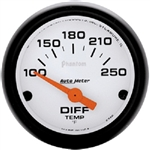 Auto Meter 5749 Phantom 100-250 °F Differential Temperature Gauge