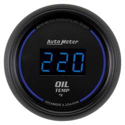 Auto Meter 6948 Cobalt 0-340 °F Digital Oil Temperature Gauge