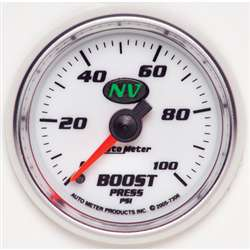 Auto Meter 7306 NV 0-100 PSI Boost Gauge
