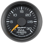 Auto Meter 8386 Factory Match 0-30000 PSI Diesel Fuel Rail Pressure Gauge