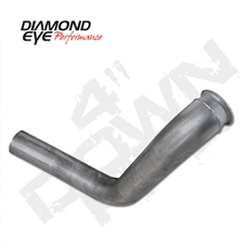 "Diamond Eye 120006 4"" Aluminized Downpipe with Pyrometer Plug for 1999-2003 Ford 7.3L Powerstroke"
