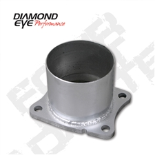 "Diamond Eye 321045 4"" Aluminized 4 Bolt Adapter Plate for 2001-2007 GM 6.6L Duramax LB7, LLY, LBZ"