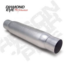 "Diamond Eye 400405 4"" Aluminized Quiet Tone Resonator"