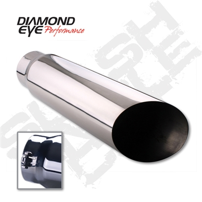 "Diamond Eye 4512BAC-DE 5"" Bolt-On Angle Cut Exhaust Tip"