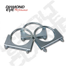 "Diamond Eye 454000 4"" Zinc Coated Steel U-Bolt Clamp"