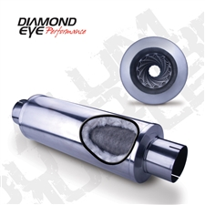 "Diamond Eye 460033 4"" 409 Stainless Steel Muffler"