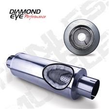 "Diamond Eye 470050 4"" 409 Stainless Steel Muffler"