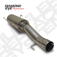 "Diamond Eye 510212 4"" 409 Stainless Steel Muffler Replacement Kit for 2004.5-2007 Dodge 5.9L Cummins"