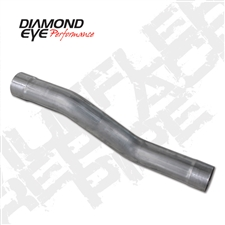 "Diamond Eye 510216 4"" Aluminized Muffler Replacement Pipe for 2004.5-2007 Dodge 5.9L Cummins"