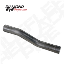 "Diamond Eye 510217 4"" 409 Stainless Steel Muffler Replacement Pipe for 2004.5-2007 Dodge 5.9L Cummins"