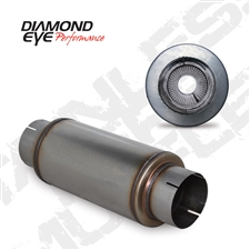 "Diamond Eye 560020 5"" 409 Stainless Steel Muffler"