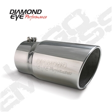 "Diamond Eye 5612BRA-DE 6"" Bolt-On Rolled End Angle Cut Exhaust Tip"