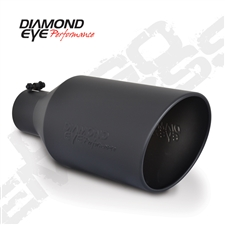 "Diamond Eye 5718BRA-DEBK 7"" Bolt-On Rolled End Angle Cut Black Exhaust Tip"