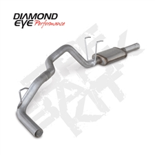 "Diamond Eye K3262A 3"" Cat Back Single Side Aluminized Exhaust System for 2014-2015 Dodge 3.0L EcoDiesel"