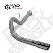 "Diamond Eye K4130S 4"" Filter Back Single Side 409 Stainless Steel Exhaust System for 2007.5-2010 GM 6.6L Duramax LMM"