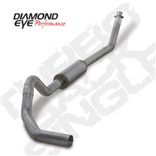 "Diamond Eye K4212A 4"" Turbo Back Single Side Aluminized Exhaust System for 1994-2002 Dodge 5.9L Cummins"