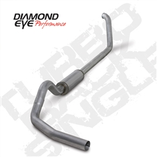 "Diamond Eye K4318A 4"" Turbo Back Single Side Aluminized Exhaust System for 1999-2003 Ford 7.3L Powerstroke"