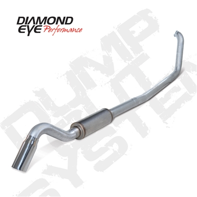 "Diamond Eye K4318A-TDRP 4"" Turbo Back Single Side Turn Down Aluminized Exhaust System for 1999-2003 Ford 7.3L Powerstroke"