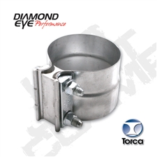 "Diamond Eye L40SA 4"" 304 Stainless Steel Torca Lap Joint Clamp"