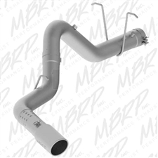 "MBRP S6032304 4"" DPF Filter Back Single Side Stainless T304 Exhaust for 2011-2017 GM 6.6L Duramax LML, L5P"