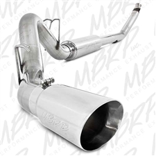 "MBRP S6100304 4"" Turbo Back Single Side Stainless T304 Exhaust for 1994-2007.5 Dodge 5.9L Cummins"
