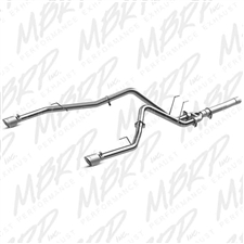 "MBRP S6171AL 2.5"" DPF Filter Back Dual Side Rear Facing Aluminized Exhaust for 2014-2016 Dodge 3.0L EcoDiesel"