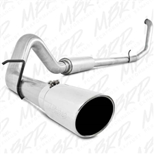 "MBRP S6200AL 4"" Turbo Back Single Side Aluminized Exhaust for 1999-2003 Ford 7.3L Powerstroke"
