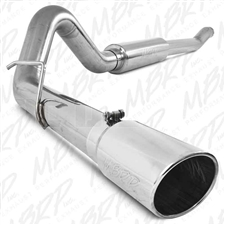 "MBRP S6208409 4"" Cat Back Single Side Stainless T409 Exhaust for 2003-2007 Ford 6.0L Powerstroke"