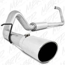 "MBRP S6212AL 4"" Turbo Back Single Side Aluminized Exhaust for 2003-2007 Ford 6.0L Powerstroke"