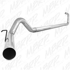 "MBRP S6212PLM 4"" Turbo Back Single Side Aluminized Exhaust for 2003-2007 Ford 6.0L Powerstroke"