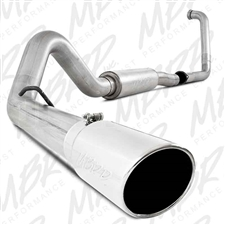 "MBRP S6216AL 4"" Turbo Back Single Side Aluminized Exhaust for 2003-2005 Ford 6.0L Powerstroke"