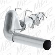 "MBRP S62260P 5"" Cat Back Single Side Aluminized Exhaust for 2003-2007 Ford 6.0L Powerstroke"