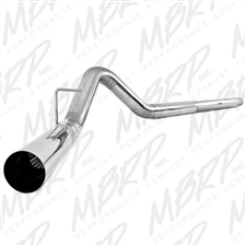 "MBRP S6242SLM 4"" DPF Filter Back Single Side Stainless T409 Exhaust for 2008-2010 Ford 6.4L Powerstroke"