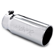 "MBRP T5050 5"" Rolled Edge Straight Cut Stainless T304 Exhaust Tip"
