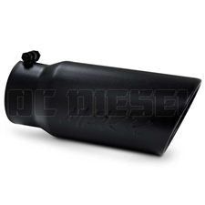 "MBRP T5051BLK 5"" Rolled Edge Angle Cut Black Coated Sainless T409 Exhaust Tip"