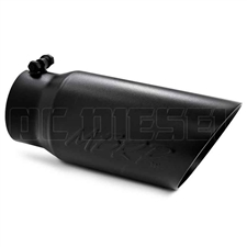 "MBRP T5053BLK 5"" Dual Wall Angle Cut Black Coated Stainless T409 Exhaust Tip"