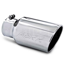 "MBRP T5073 6"" Rolled Edge Angle Cut Stainless T304 Exhaust Tip"