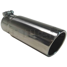 "MBRP T5115 3.5"" Rolled Edge Angle Cut Stainless T304 Exhaust Tip"
