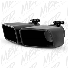 "MBRP T5120BLK 4.75""x 3"" Rectangle Angled Cut Black Coated Stainless T409 Exhaust Tip"