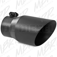 "MBRP T5122BLK 4"" Dual Wall Angle Cut Black Coated Stainless T409 Exhaust Tip"