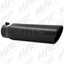 "MBRP T5124BLK 5"" Rolled Edge Angle Cut Black Coated Sainless T409 Exhaust Tip"
