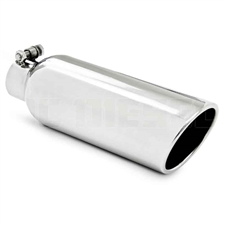 "MBRP T5149 4"" Rolled Edge Angled Cut Stainless T304 Exhaust Tip"